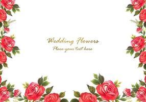 Akvarell blommar bakgrund vektor