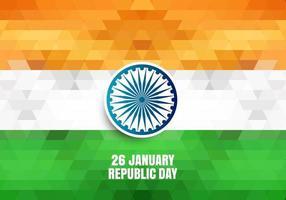 Tag der Republik von Indien geometrischen Hintergrund vektor