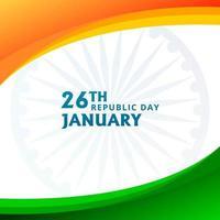 Indischer Tag der Republik Indien mit indischem Flaggenthema vektor