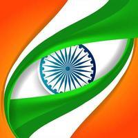 Indischer Markierungsfahnenhintergrund für Tag der Republik vektor