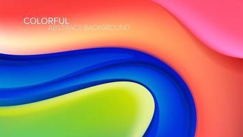 Färgglad förvrängd krökt formbakgrund vektor