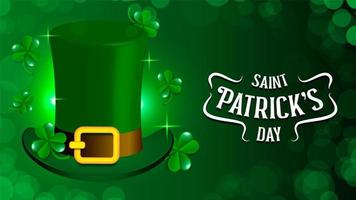 St Patrick Holiday Theme With Green Hat