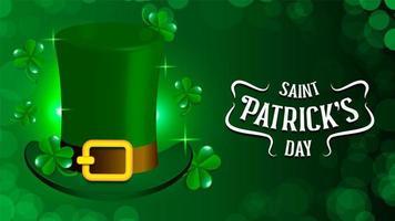St. Patrick Urlaubsthema Mit Grünem Hut vektor