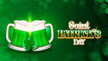 Skål på Saint Patrick's dag bokeh bakgrund