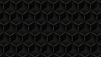 Elegant geometrisk mönsterbakgrund med gyllene detaljer vektor