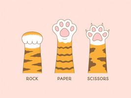 Paw Sign Of Rock Paper Scissors Spiel vektor