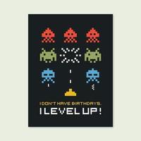 Retro Gamer-Zitat-Vektor-Design