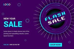 Flash-försäljning eller försäljningsbaner för nytt år vektor