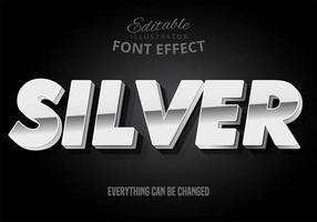 Silberner Schrift-Effekt vektor
