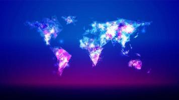 Abstrakt månghörnigt världskarta vektor
