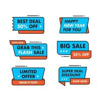 Set Sammlung Sale Banner Template Design