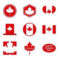 lycklig kanadagskort vektor