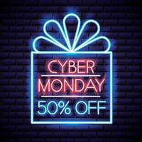Cyber Monday Neon Sign vektor