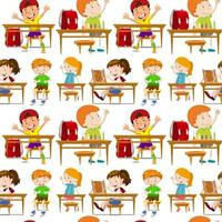 Nahtlose Schüler im Klassenzimmer vektor