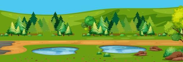Ett platt naturlandskap vektor