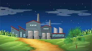 Föroreningar från fabriksscenen i naturen vektor