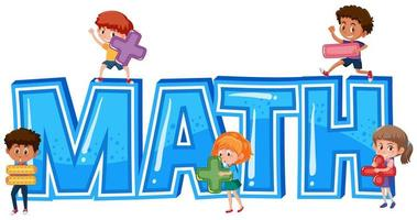 Mathewort mit Kindern vektor