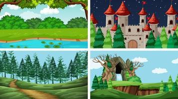 Set von Szenen in der Natur vektor
