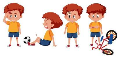 Uppsättning av pojke karaktär