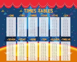 Ein Mathe-Stundenplan vektor