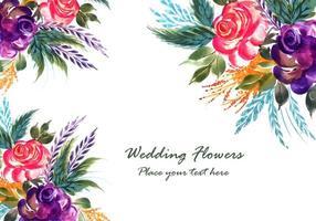 Romantische Hochzeit blüht Kartenhintergrund