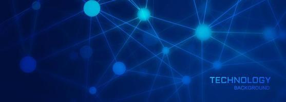 Teknologi banner bakgrund med polygon ansluter former