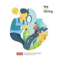 online rekrytering och koncept för anställning av jobb vektor