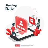 Diebstahl personenbezogener Daten vektor