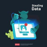 internetsäkerhetsbegrepp för webblandningssida