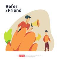 Verweisen Sie einen Freund Illustration Konzept