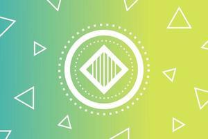Abstrakt geometrisk grön bakgrund med trianglar