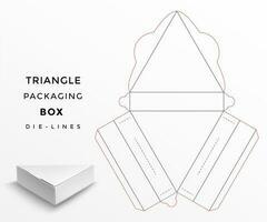 Dreieck verpackung box sterben linien vektor
