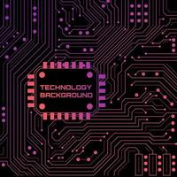 Technologie Neon Hintergrund vektor