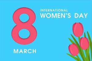 8 mars Internationella kvinnodagen vektor