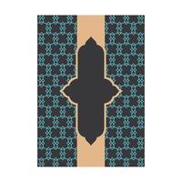 Blå mönsteromslag med vertikal banderoll