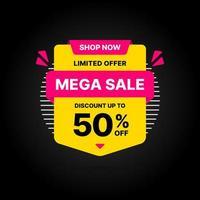 Mega försäljning banner mall design
