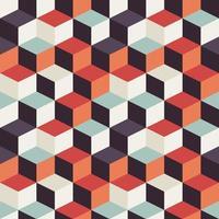 Geometriska sömlösa mönster med retro fyrkanter