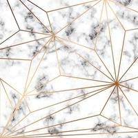 Marmorbeschaffenheitsdesign mit goldenen geometrischen Linien