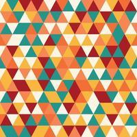 Geometriska sömlösa mönster med färgglada trianglar