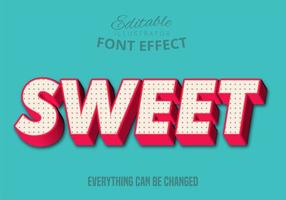 Süßer Text, bearbeitbare Textart vektor