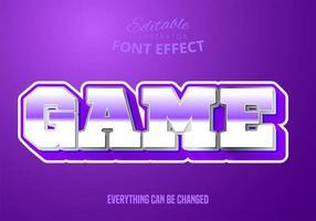 Mettalic Text des Spiels, bearbeitbare Textart vektor