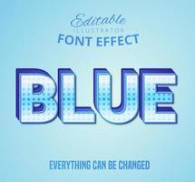 Blauer gepunkteter Text, bearbeitbare Textart vektor