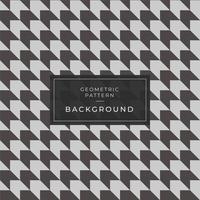 Sömlösa svartvita houndstooth-mönster vektor