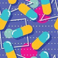 Nahtloses Muster der Pillen und der Kapseln vektor