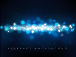 Glühender tiefblauer Hintergrund Bokeh vektor