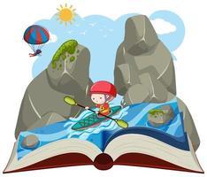 En öppen bok kajakpaddling
