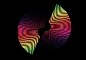 Aufgeteilter Kreisentwurf des bunten Regenbogens