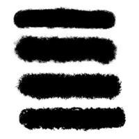 Grunge penseldragsamling vektor