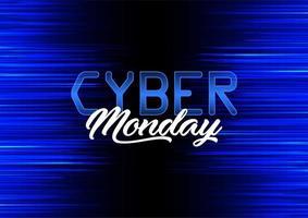 Modern bakgrundsdesign för Cyber Monday