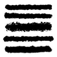samling av grunge penseldrag vektor